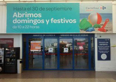 Rotulación publicitaria: Carrefour Valencia