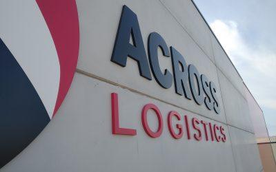 Fabricación e instalación de corporeos para Across Logistics