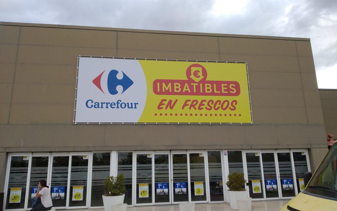 Lonas super gran formato para Carrefour Levante