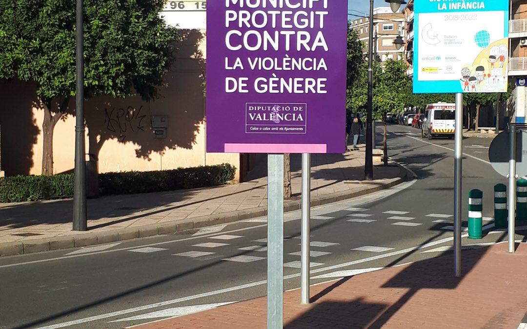 Señalización vial Red Municipios Contra Violencia de Género
