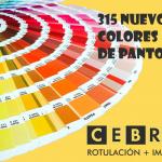 315 nuevos colores de pantone