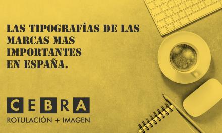 Las tipografías de las marcas mas importantes es España.