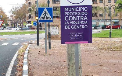 Señalización red de municipios contra la violencia de género: Ayuntamiento de Aldaya