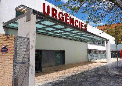 Rótulo corpóreo, rotulación y señalización direccional y evacuación: Urgencias Campanar