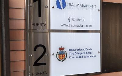 Directorio placas para edificio oficinas: Ramón y Cajal