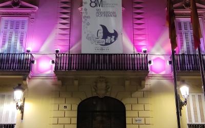 Lona impresión digital gran formato día internacional de la mujer: Diputación de Valencia