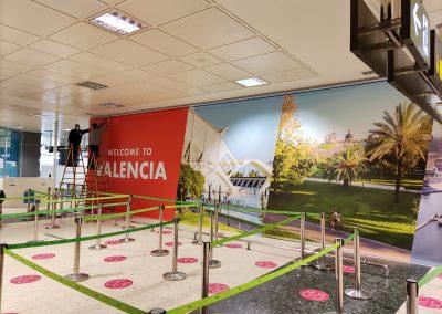 Impresión digital super gran formato: Aeropuerto Manises, Aena