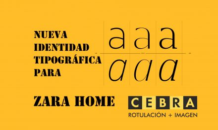 Nueva identidad tipográfica para Zara Home